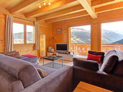 Rent in ski resort Chalet Etoile des 4 Vallées - Thyon - Living room