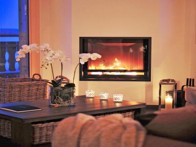 Rent in ski resort Chalet Falcons Nest - Thyon - Fireplace