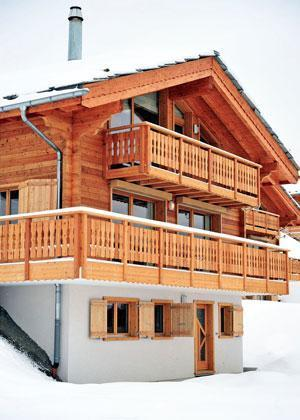 Location au ski Chalet 5 pièces 8 personnes - Chalet Falcons Nest - Thyon - Extérieur hiver