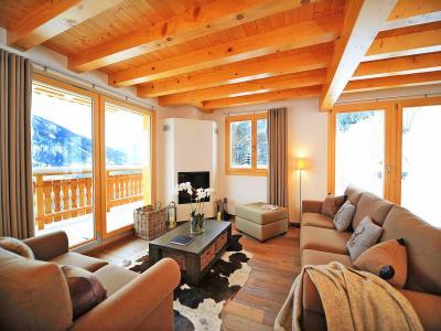 Rent in ski resort Chalet Falcons Nest - Thyon - Living room
