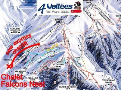 Location au ski Chalet 5 pièces 8 personnes - Chalet Falcons Nest - Thyon - Plan