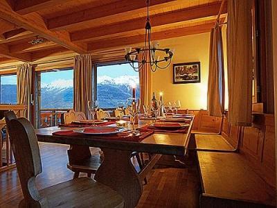 Location au ski Chalet K2 - Thyon - Coin repas