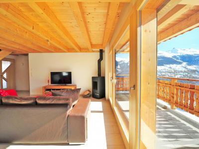 Аренда на лыжном курорте Chalet Ourson Blanc - Thyon - Телевизор с плоским экраном