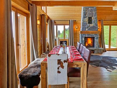 Location au ski Chalet Perle des Collons - Thyon - Salle à manger