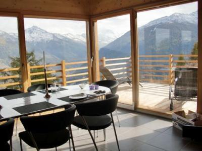 Location au ski Chalet 6 pièces 10 personnes - Chalet Sur Piste - Thyon - Séjour