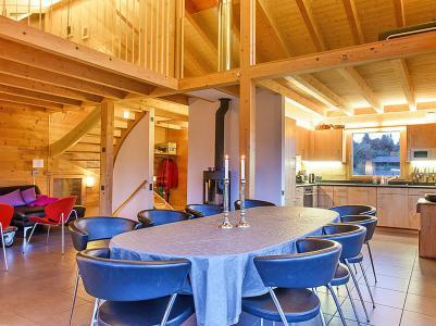 Location au ski Chalet Sur Piste - Thyon - Salle à manger