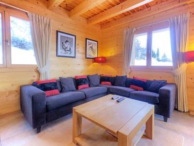 Location au ski Chalet Teychenne - Thyon - Canapé