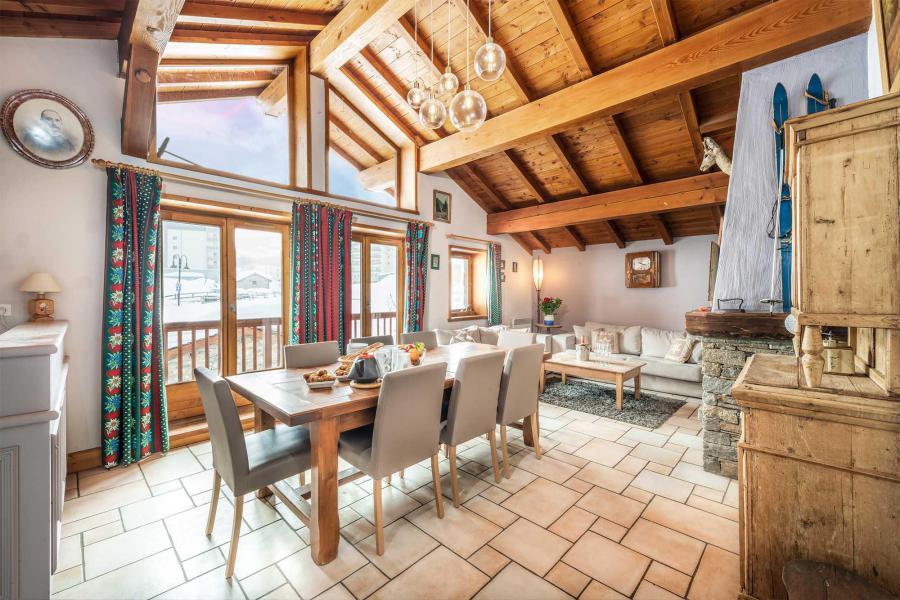 Location au ski Chalet Isabelle - Tignes - Salle à manger