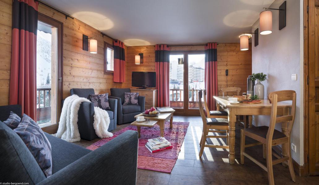 Аренда на лыжном курорте Апартаменты 4 комнат 6 чел. - Chalet le Planton - Tignes - Салон