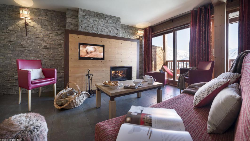 Аренда на лыжном курорте Chalet les Airelles - Tignes - Камин