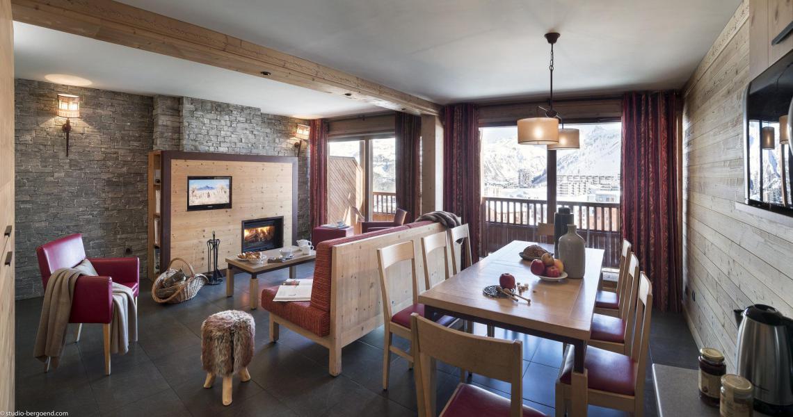 Аренда на лыжном курорте Chalet les Airelles - Tignes - Салон