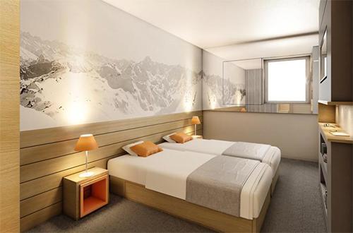 Location au ski Hotel Club Mmv Les Brevieres - Tignes - Chambre