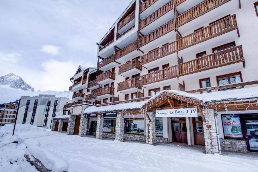 Location au ski Résidence le Borsat IV - Tignes - Extérieur hiver