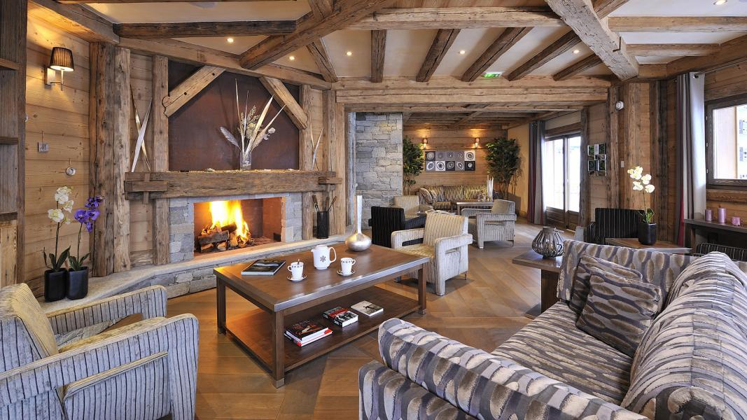 Location au ski Résidence le Jhana - Tignes - Cheminée