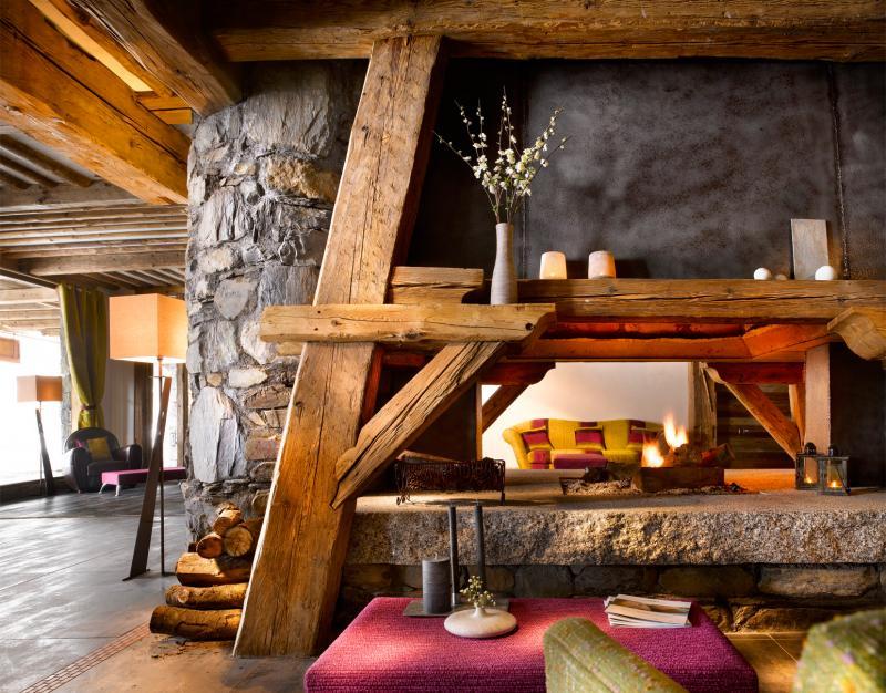Alquiler al esquí Résidence le Névada - Tignes - Chimenea