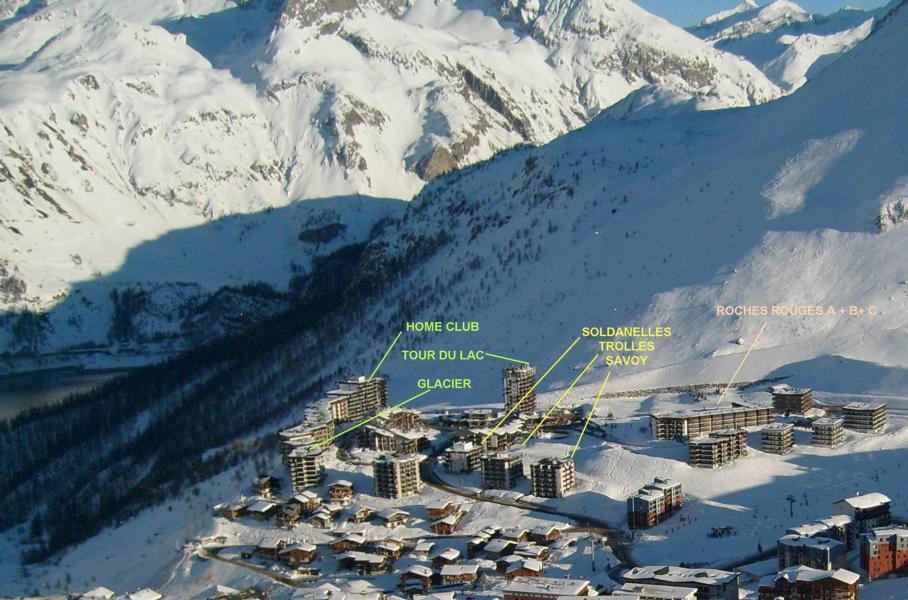Wakacje w górach Résidence les Roches Rouges C - Tignes - Zima na zewnątrz