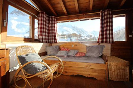 Rent in ski resort 3 room apartment 6 people (3CH) - Chalet Bobech - Tignes - Living room
