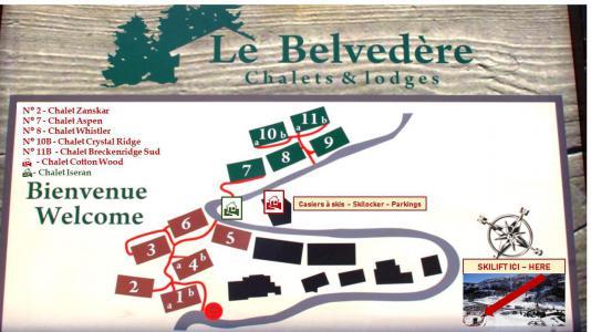 Rent in ski resort Chalet Whistler - Tignes - Plan