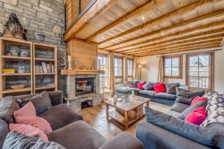 Rent in ski resort 7 room chalet 12 people - Chalet Whistler - Tignes - Living room