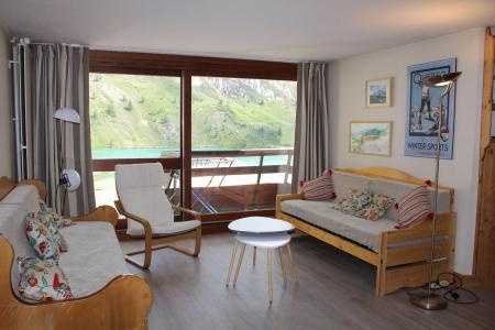 Rent in ski resort 3 room apartment sleeping corner 7 people (601CL) - La résidence le Palafour - Tignes - Living room