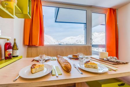 Rent in ski resort Studio sleeping corner 4 people (192CL) - Résidence Home Club 2 - Tignes - Apartment
