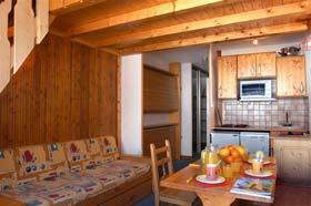Location au ski Appartement 2 pièces cabine 6 personnes - Residence Le Rond Point Des Pistes - Tignes - Banquette-lit
