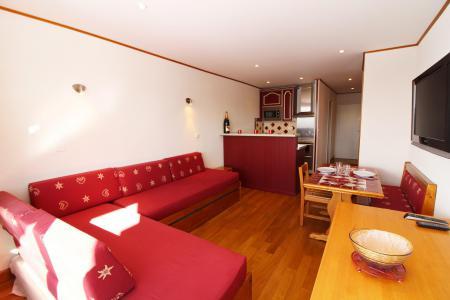 Rent in ski resort Studio sleeping corner 4 people (220CL) - Résidence les Hauts du Val Claret - Tignes - Living room