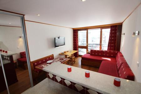 Rent in ski resort Studio sleeping corner 4 people (220CL) - Résidence les Hauts du Val Claret - Tignes - Settee
