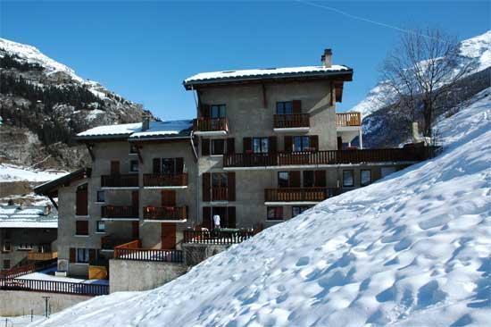 Location au ski Studio 3 personnes (304) - Residence Pre Sybille - Val Cenis - Extérieur hiver