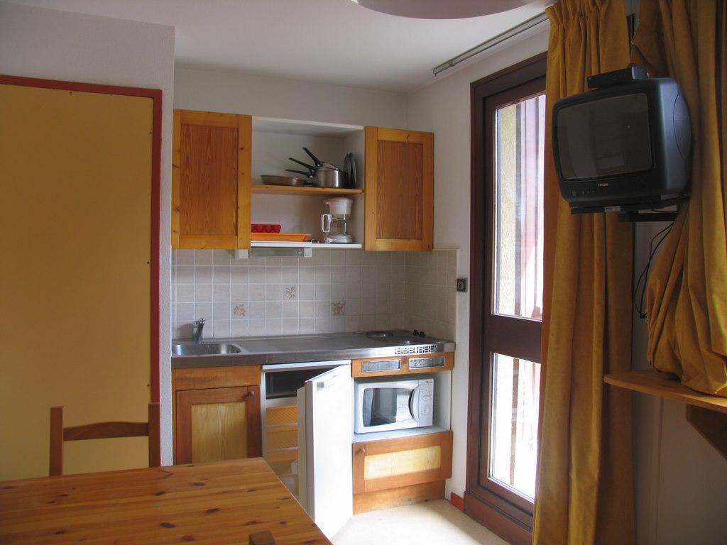 Location au ski Studio 3 personnes (021) - Residences Du Quartier Napoleon - Val Cenis - Séjour