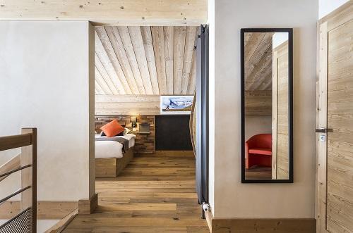 Location au ski Hôtel Saint Charles Val Cenis - Val Cenis - Chambre ouverte