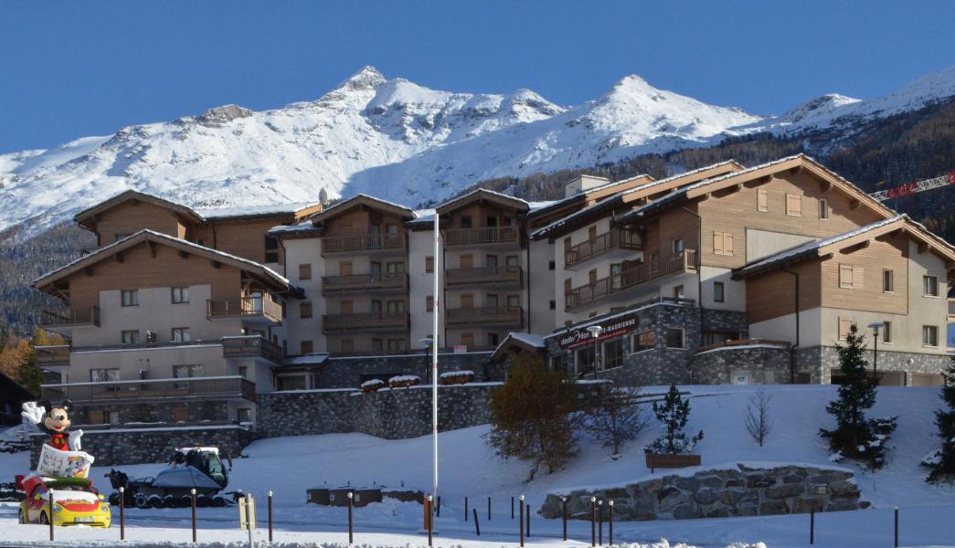 Location au ski Résidence le Bonheur des Pistes - Val Cenis - Extérieur hiver