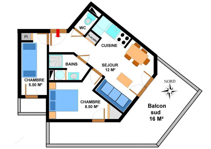 Location au ski Appartement 3 pièces 5 personnes (B11) - Résidence le Bonheur des Pistes - Val Cenis