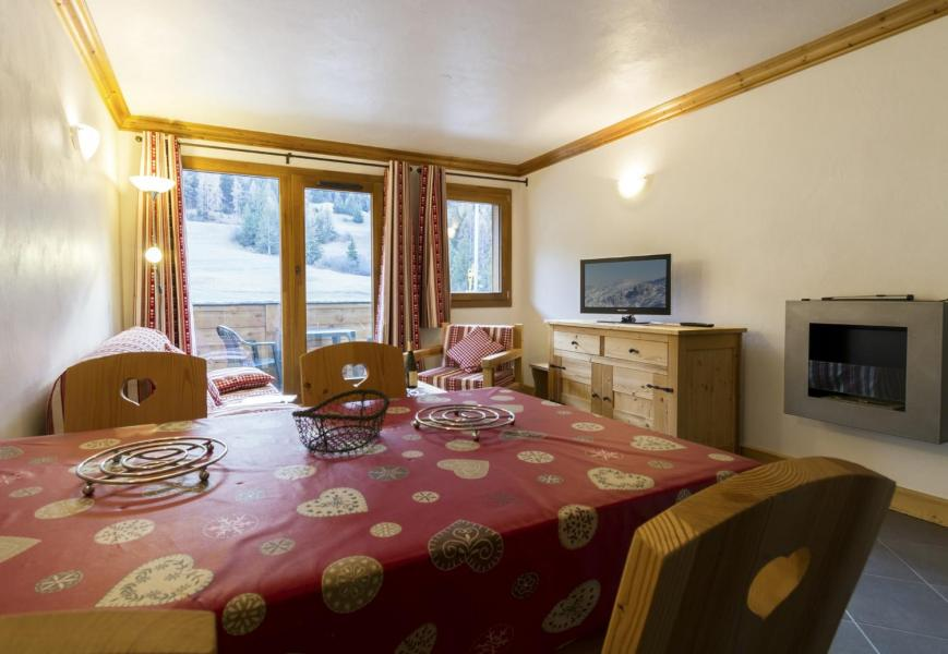 Rent in ski resort 4 room apartment 6 people - Residence Le Criterium - Val Cenis - Fireplace