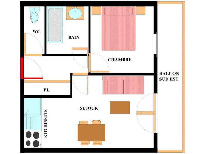 Аренда на лыжном курорте Апартаменты 2 комнат 4 чел. (A201) - Résidence les Alpages - Val Cenis