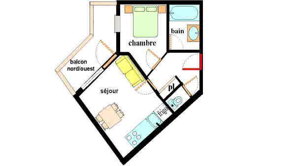Location au ski Appartement 2 pièces 4 personnes (E304) - Résidence les Alpages - Val Cenis