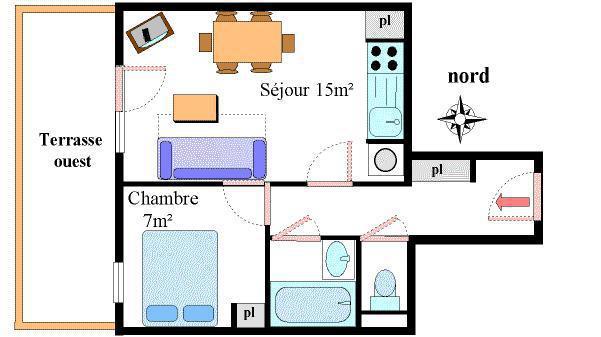 Location au ski Appartement 2 pièces 4 personnes (2) - Résidence les Essarts - Val Cenis