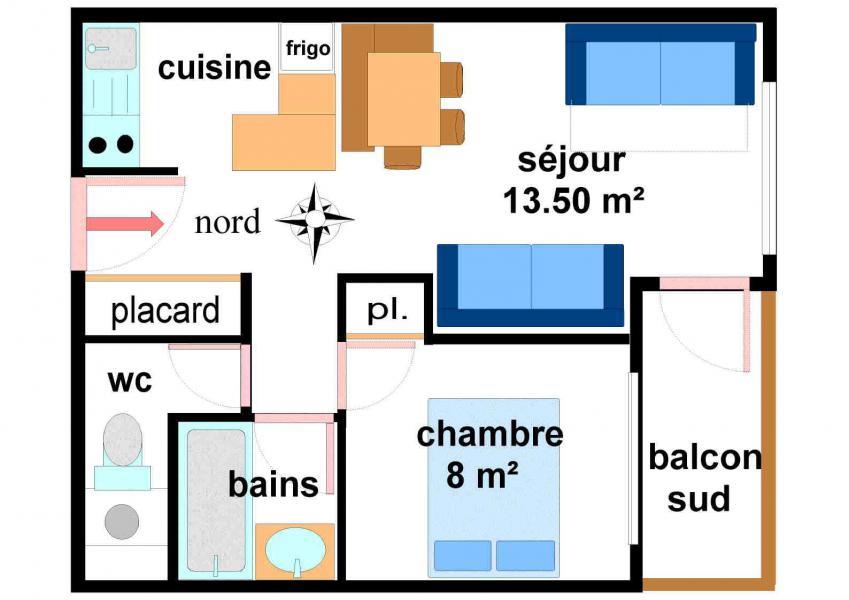 Location au ski Appartement 2 pièces 5 personnes (001) - Résidences du Quartier Napoléon - Val Cenis