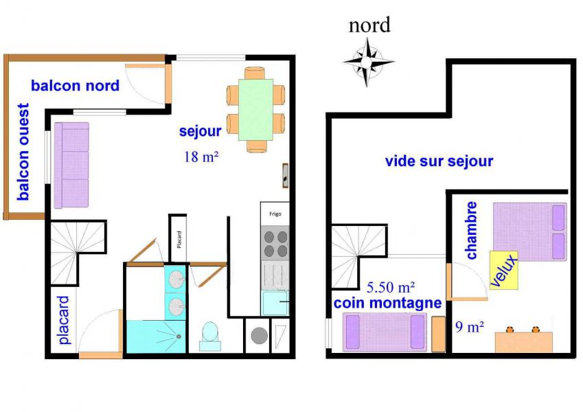 Location au ski Appartement 2 pièces mezzanine 7 personnes (A022) - Résidences du Quartier Napoléon - Val Cenis