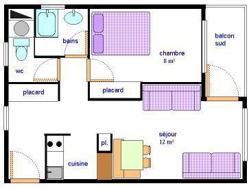 Location au ski Appartement 2 pièces 5 personnes (AR27) - Résidences du Quartier Napoléon - Val Cenis