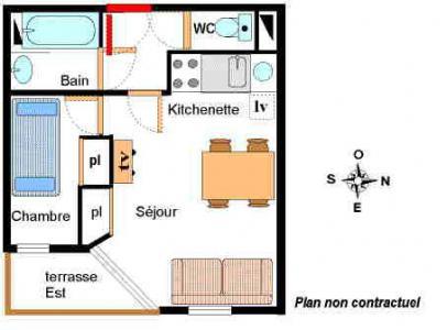 Location au ski Appartement 2 pièces 4 personnes (001) - Résidence Chevallier - Val Cenis