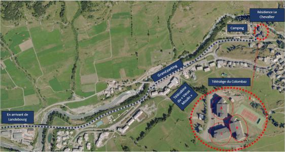 Location au ski Appartement 2 pièces 4 personnes (005) - Résidence Chevallier - Val Cenis - Plan