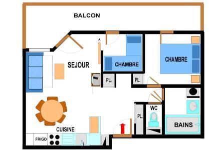 Location au ski Appartement 3 pièces 6 personnes (A63) - Residence Le Bonheur Des Pistes - Val Cenis