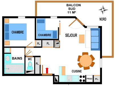 Location au ski Appartement 3 pièces 6 personnes (A69) - Residence Le Bonheur Des Pistes - Val Cenis