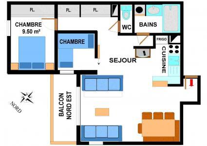 Location au ski Appartement 3 pièces 7 personnes (B42) - Residence Le Bonheur Des Pistes - Val Cenis
