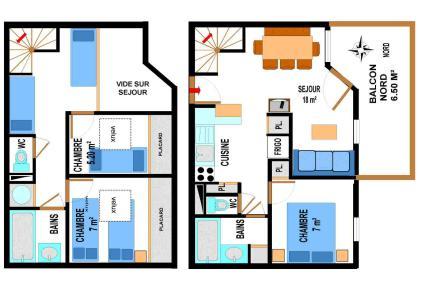 Location au ski Appartement duplex 4 pièces 10 personnes (A73) - Residence Le Bonheur Des Pistes - Val Cenis