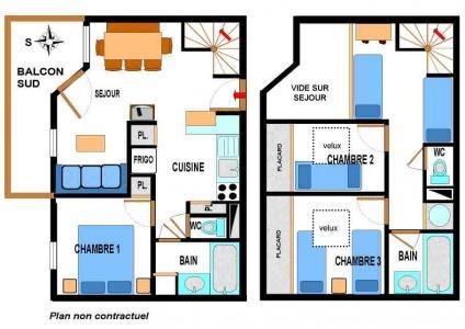 Location au ski Appartement duplex 4 pièces 10 personnes (A76) - Residence Le Bonheur Des Pistes - Val Cenis