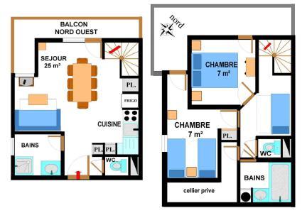 Location au ski Appartement duplex 4 pièces 8 personnes (B2) - Residence Le Bonheur Des Pistes - Val Cenis