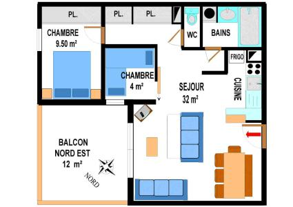 Location au ski Appartement 3 pièces 7 personnes (B16) - Residence Le Bonheur Des Pistes - Val Cenis