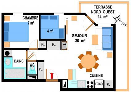 Location au ski Appartement 3 pièces 6 personnes (B18) - Résidence le Bonheur des Pistes - Val Cenis